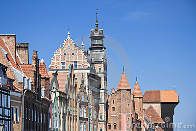 Famous cities in  Poland - Gdansk - Danzig.
