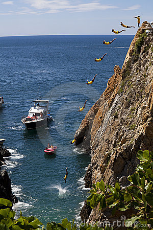 Famous Cliff Divers Editorial Stock Photo