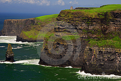 Famous cliffs of moher on west coast of ireland
