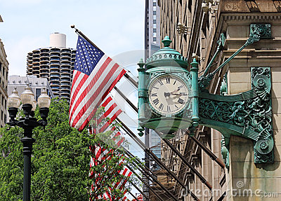 Famous clock in Chicago
