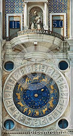 Famous clock in Venice