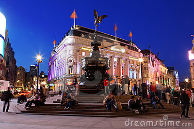 Famous crossroad Piccadilly Circus night life Editorial Stock Photo