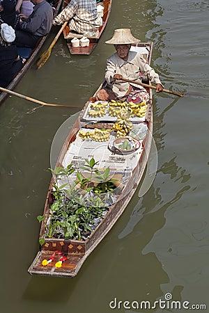 Famous Damnoen Saduak Floating Market - Bangkok, Thailand Editorial Stock Image
