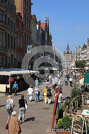 Famous Dluga street, Gdansk Editorial Image