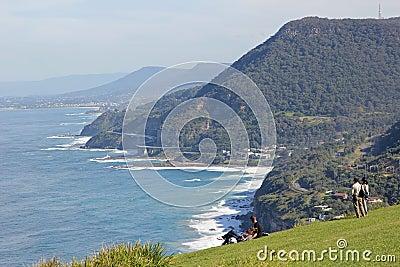 Famous drive at scenic coastline