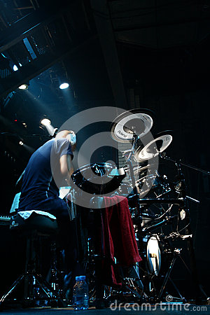 Drummer artist Omar Hakim Editorial Stock Photo