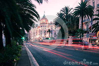 The famous El Negresco Hotel in Nice, France Editorial Stock Image