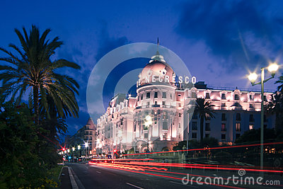 The famous El Negresco Hotel in Nice, France Editorial Photo