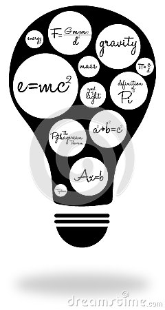 Famous Equations Stock Photo - Image: 28371940