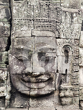 Famous face of Bayon Temple