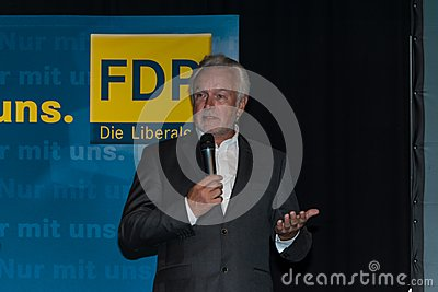 The famous FDP politician and parliamentary candidate Wolfgang Kubicki Editorial Photography