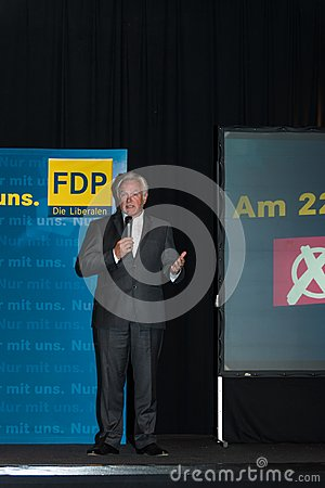 The famous FDP politician and parliamentary candidate Wolfgang Kubicki Editorial Photo
