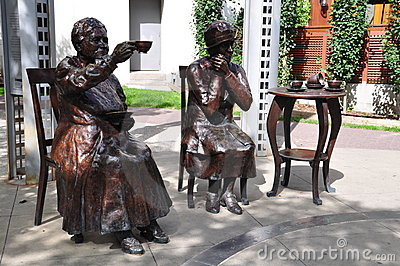 Famous Five statue Editorial Stock Photo