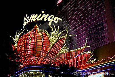 Famous Flamingo Casino - Las Vegas Editorial Photo