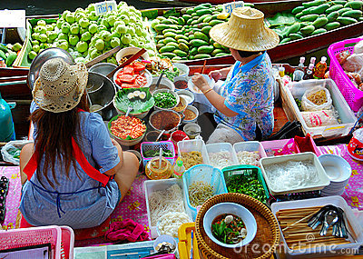 Famous food market Editorial Stock Photo