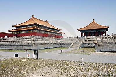 Famous forbidden city in Beijing, China