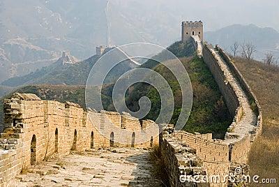Famous great wall at Simatai near Beijing