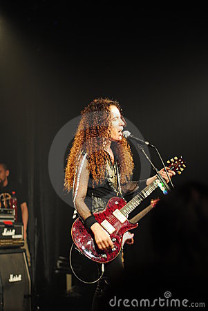 Famous guitar player - Marty Friedman Editorial Stock Image