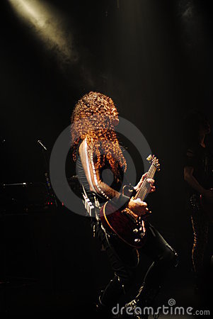 Famous guitar player - Marty Friedman Editorial Stock Photo
