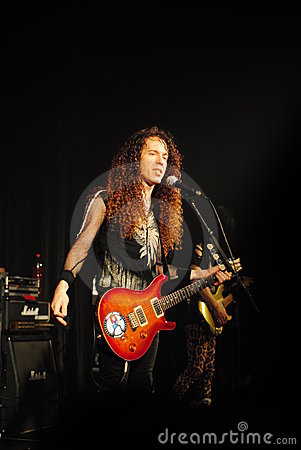 Famous guitar player - Marty Friedman Editorial Photo