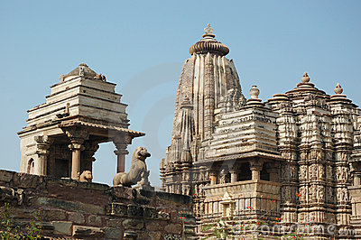 Famous holy hindu temples at Khajuraho,India
