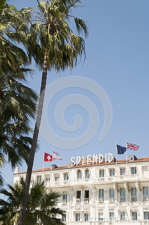 Famous hotel architecture Cannes France Editorial Photo