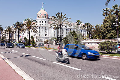 Famous Hotel Negresco at the Promenade des Anglais Editorial Image