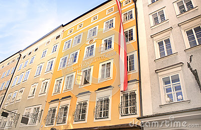 Famous House where Mozart was born, Salzburg