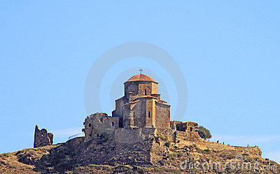 Famous Jvari church near Tbilisi