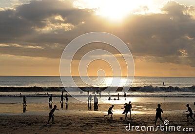 Famous Kuta Beach Bali sunset