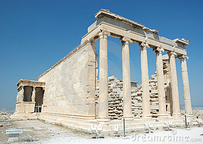 Famous landmark -ruins of acropolis in Athens
