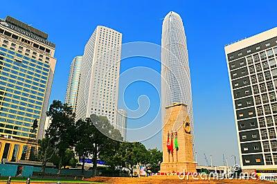 Famous landmarks of hong kong Editorial Stock Photo