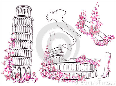 Famous landmarks of Italy