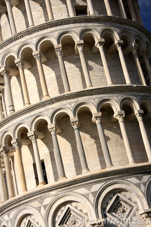 Famous Leaning Tower of PISA in Italy