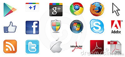 Famous logo icon collection Editorial Stock Photo