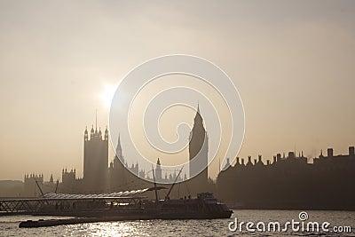 Famous London skyline