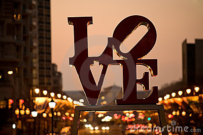 Famous Love sign in Philadelphia Editorial Photo