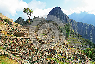 The famous Machu Picchu in Peru