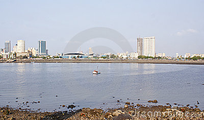 The famous Marine Drive of Mumbai,India. Editorial Stock Photo