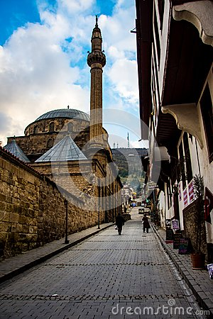 Free Famous Mevlevi Mosque In The Street Of Afyon Royalty Free Stock Images - 107397929