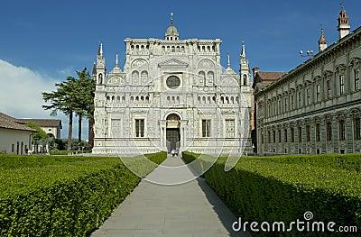 Famous monastery of Pavia, Italy