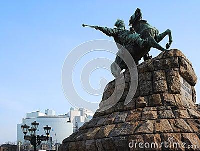 Famous monument of Ukrainian hetmans