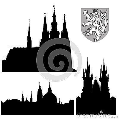 Famous monuments of Prague