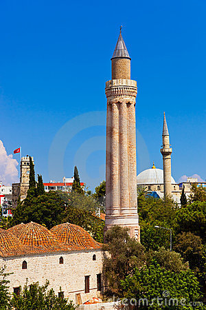 Famous Mosque in Antalya, Turkey