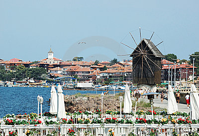 Famous Nesebar island - unesco heritage Editorial Stock Photo