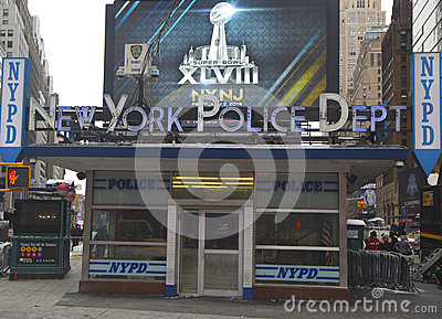 Famous NYPD Times Square Precinct in Midtown Manhattan Editorial Image