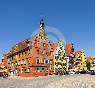 Free Famous Old Romantic Medieval Town Of Dinkelsbuehl Royalty Free Stock Images - 35689259