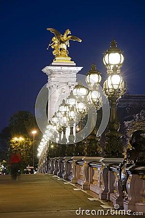 Famous Paris Landmark Alexander Bridge