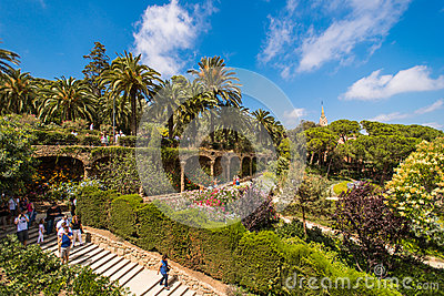 The famous Park Guell Editorial Image