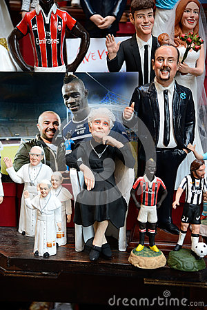 Famous puppets by Naples Editorial Stock Image
